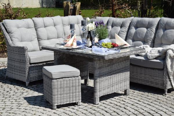 sitzgruppe esstisch sitzgruppe polyrattan grau. Black Bedroom Furniture Sets. Home Design Ideas